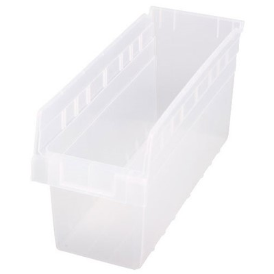 "Quantum Storage Systems QSB804CL - Clear-View Series Store-Max 8"" Shelf Bin - 17.875"" x 6.625"" x 8"" - 20/Carton"