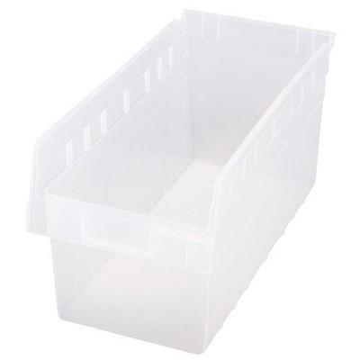 "Quantum Storage Systems QSB808CL - Clear-View Series Store-Max 8"" Shelf Bin - 17.875"" x 8.375"" x 8"" - 10/Carton"