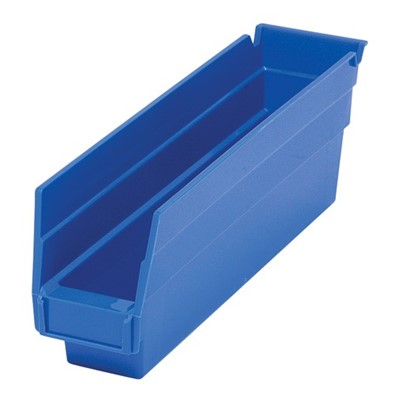 "Quantum QSB100-BL - Economy 4"" Shelf Bins - 11.625"" x 2.75"" x 4"" - Blue - 36/Carton"
