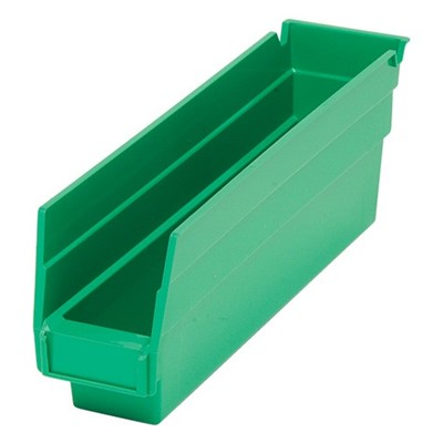 "Quantum QSB100-GR - Economy 4"" Shelf Bins - 11.625"" x 2.75"" x 4"" - Green - 36/Carton"