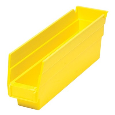 "Quantum QSB100-YL - Economy 4"" Shelf Bins - 11.625"" x 2.75"" x 4"" - Yellow - 36/Carton"