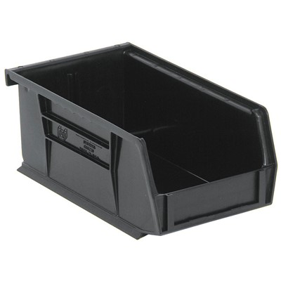 "Quantum Storage Systems QUS220CO - Ultra Stack and Hang Bin - Conductive - I.D. 6.75"" L x 3.4375"" W x 2.8125"" H - Black - 24/Carton"