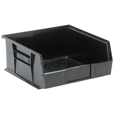 "Quantum Storage Systems QUS235CO - Ultra Stack and Hang Bin - Conductive - I.D. 10.25"" L x 10"" W x 4.75"" H - Black - 6/Carton"
