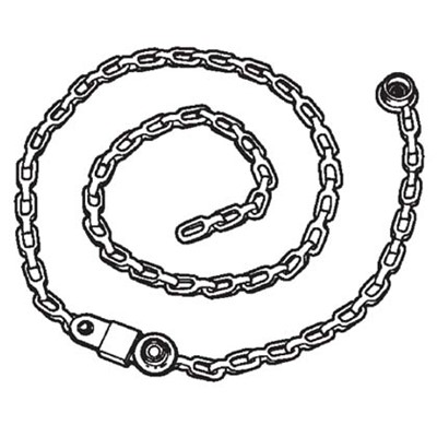 Static Solutions DC-4631 - Ohm-Stat™ Drag Chain for Rolling Carts & Chairs - 1 Meg - 24""
