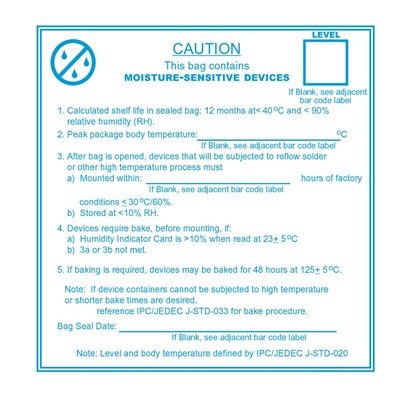 Buy Moisture Warning Labels and Dry Packaging Labels - Page 1