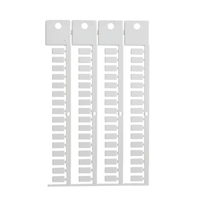Brady 151204 - Terminal Block Tag Polycarbonate - 10.00 mm H x 5.00 mm W - 64 Tags/Card/ 1024 pieces