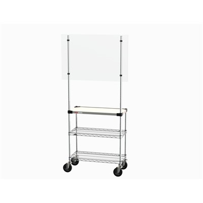 "InterMetro Industries SHC184880K4-MUB-4 - Metroseal Gray Shield Cart - 4 Shelves - 18"" x 48"" x 80"""