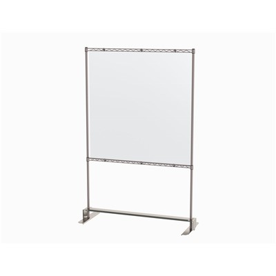 "InterMetro Industries SHS4874K4-S - Metroseal Gray Slim Model Shield Stand - 48"" x 74"""
