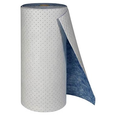 "Brady SPC156 - SPC Oil Medium Weight Absorbent Pad (1 Side w/Blue Coverstock) - Perforated - 30"" x 150"