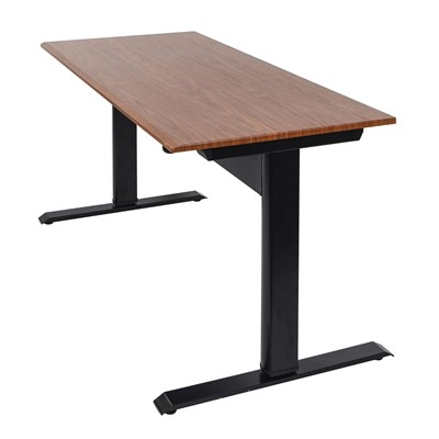"Luxor SPN48F-BK/TK - 48"" Pneumatic Adjustable Height Standing Desk - 48"" W x 29.5"" D x 27.5""-44.5"" H - Teak"