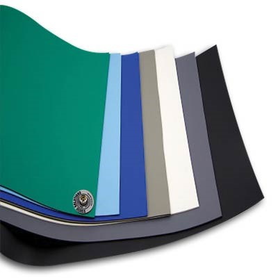 "Static Solutions UM-3060DB - Ultimat™ Two-Layer Rubber ESD Mat w/2 Snaps - 30"" x 60"" - Dark Blue"