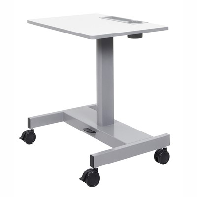 "Luxor/H Wilson STUDENT-P-S - Student Sit Stand Desk w/Pneumatic Adjustment - 27.5"" W x 19.5"" D x 26""-32.3"" H"