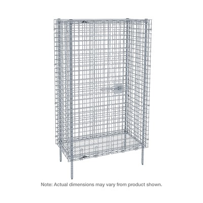 "InterMetro Industries (Metro) SEC53C-4 - Super Erecta Stationary Security Shelving Unit with 2 Intermediate Shelves - Chrome - 27.25"" x 38.5"" x 66.8125"""