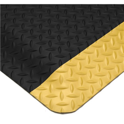 Wearwell 414.1516x2x3BYL - UltraSoft Diamond-Plate Nitricell® Sponge Base Anti-Fatigue Mat - 2