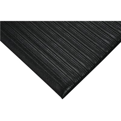 "Wearwell 451.38x27x60BK - Tuf Sponge PVC Anti-Fatigue Mat - 0.375"" Thick x 27"" x 60"" - Black"