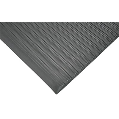 "Wearwell 451.38x27x60GY - Tuf Sponge PVC Anti-Fatigue Mat - 0.375"" Thick x 27"" x 60"" - Gray"