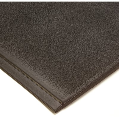 Wearwell 459.12x2x3BK - Endurable PVC Sponge Anti-Fatigue Mat - 2' x 3' - Black