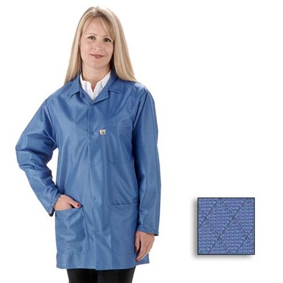 Tech Wear EconoShield Lab Coat - Lapel Collar - ECX-500 - 0.75 Length - Royal Blue