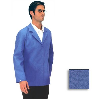 Tech Wear 361ACS-S - Nylostat Lab Jacket - Poly-Cotton Blend - Hip Length - Small - Royal Blue