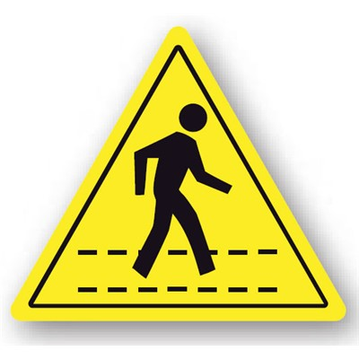 "Ergomat - DuraStripe Triangular Peel & Stick Floor Warning Sign - ""Crosswalk"" - 12"""