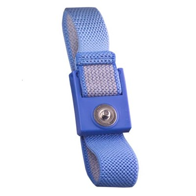 Transforming Technologies WB0016 - Fabric ESD Wrist Strap - 4 mm Snap - Blue