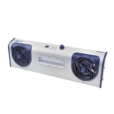 Transforming Technologies BFN 802 - Overhead AC Ionizer - 2 Fans - 1 Task Light