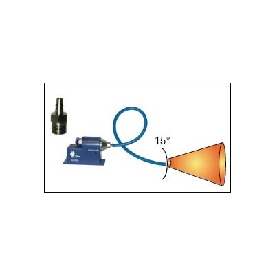 Transforming Technologies N0030 - Luer Lock Output Nozzle Tip for IN3425 Ptec™ Ionizing Air Nozzle - Bendable - 15-Degree
