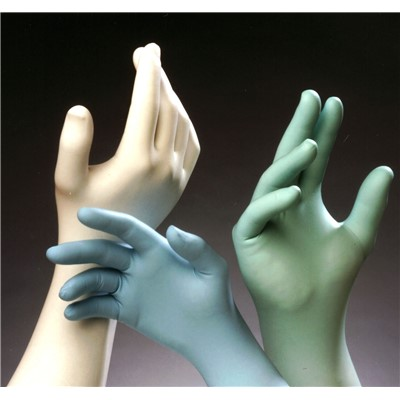 "TechNiGlove TN1200 Series Class 10 Critical Environment Powder Free Nitrile Gloves - 12"" - White - 10 Polybags/Case"