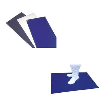 "Q Source Q999-000078 - Q-Clean Series Adhesive Tacky Mats - 36"" x 45"" - White - 30 Sheets/Mat - 4 Mats/Case"