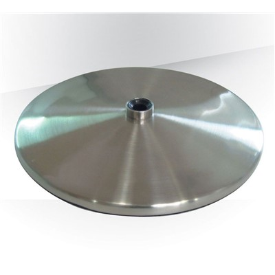 "Daylight Company U52107 - Slimline Table Base - Weighted - 8.7"" Dia. - Brushed Chrome"