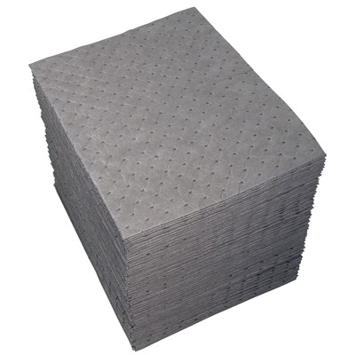 "Brady UXT100 - Universal ""Xtra Tough"" Heavy Weight Absorbent Pad - Perforated - 15"" x 19"" - 100/Case"