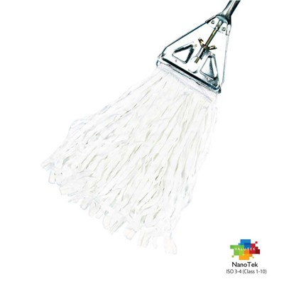 "Valutek VTCRMOP-716 - NanoTek Tubular Polyester Cleanroom Floor Mop Head - 7"" x 16"" - 15 Bags/Case"