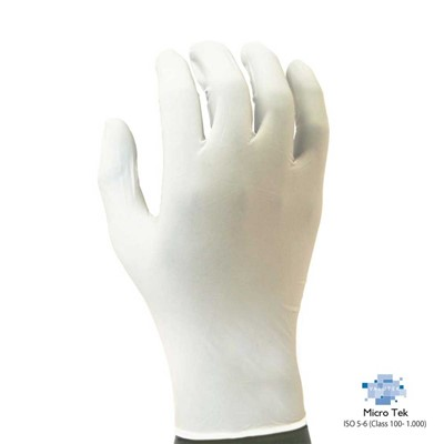 "Valutek VTGNPFB95-XS - MicroTek Nitrile Gloves - Powder-Free - 9.5"" L - ESD Compliant - X-Small - 10 Bags/Case"