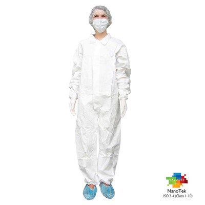 Valutek VTMCVRL-XL - NanoTek Microporous Cleanroom Coverall - X-Large - 5 Bags/Case