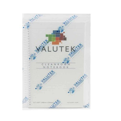 "Valutek VTNBCR-5585 - NanoTek 5.5"" x 8.5"" College Rule Spiral-Bound Cleanroom Notebook - 5.5"" x 8.5"""