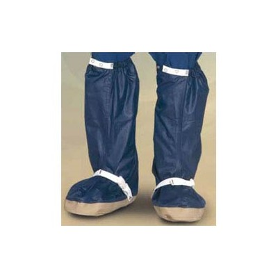 Worklon HD-ESD Maxima High-Density ESD-Safe Cleanroom Uppers Hypalon Sole Boot - Elastic w/Adjustable Snap - Navy