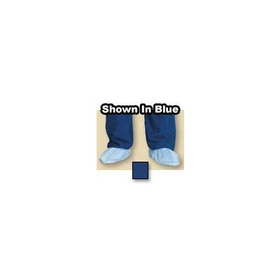 Worklon 1013-L - LD-100 Polyester Taffeta Cleanroom Uppers Hypalon Sole Shoe Cover - Large - Navy