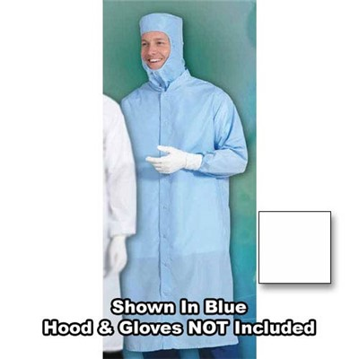 Worklon%20SC-3%20Burlington%20C3%20Cleanroom%20Set-In%20Sleeve%20Frock%20-%20Snap%20-%20White