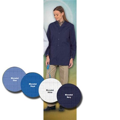 "Worklon 3432-2X - Microstat ESD Lapel Lab Jacket - Snap - 33"" - 2X-Large - Royal"