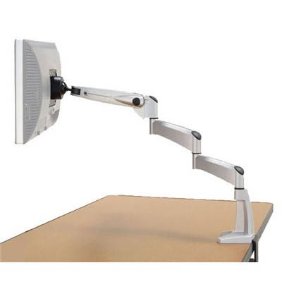 "Workrite Ergonomics PA1500-DB-S - Poise-Extended Arm w/C-Clamp & Grommet Mount - 30.25"" Reach - Silver"
