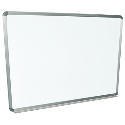 "Luxor/H Wilson WB4836W - Wall-Mounted Marker Board - 48"" x 36"" - White Surface"