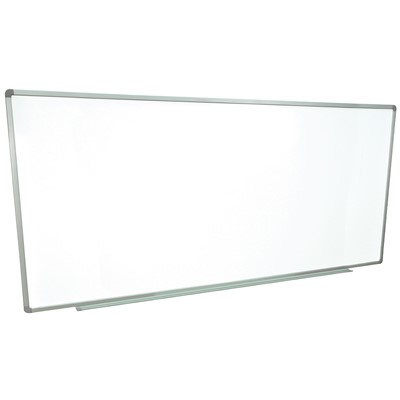 "Luxor/H Wilson WB9640W - Wall-Mounted Marker Board - 96"" x 40"" - White Surface"