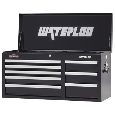 "Waterloo WCH-418BK - Waterloo Series 8-Drawer Chest - 41"" x 20"" x 16"" - Black"