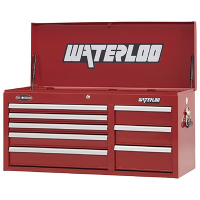 "Waterloo WCH-418RD - Waterloo Series 8-Drawer Chest - 41"" x 20"" x 16"" - Red"