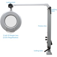 Aven Tools 26501-LFL-LED - ProVue Deluxe Magnifying Lamp [2.25x] w/White and Amber LEDs