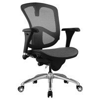 "Bevco M6088MM-BK - 6000 Series Mesh Office Chair - 18""-21.5"" - Standard Carpet Casters - Black"
