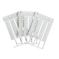Brady 151205 - Terminal Block Tag Polycarbonate - 12.00 mm H x 8.00 mm W - 40 Tags/Card/ 1000 pieces