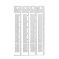 Brady 151198 - Terminal Block Tag Polycarbonate - 12.00 mm H x 8.00 mm W - 52 Tags/Card/ 1024 pieces